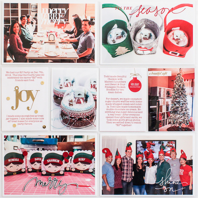 Dec Project Life page by Christine Newman | One Little Bird