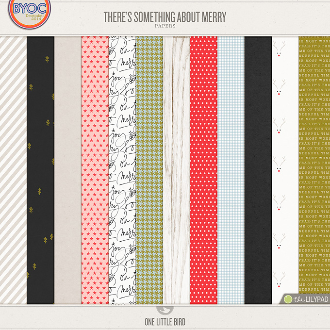 There's Something About Merry | Digital Papers | One little Bird