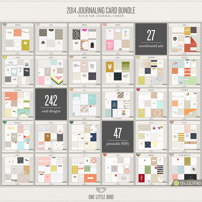 2014 Journaling Card Bundle | One Little Bird
