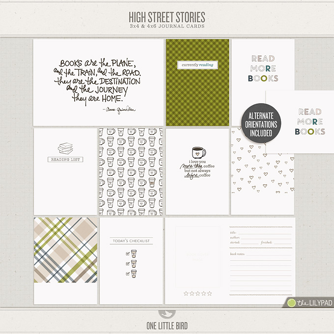High Street Stories | Printable Journal Cards | One Little Bird