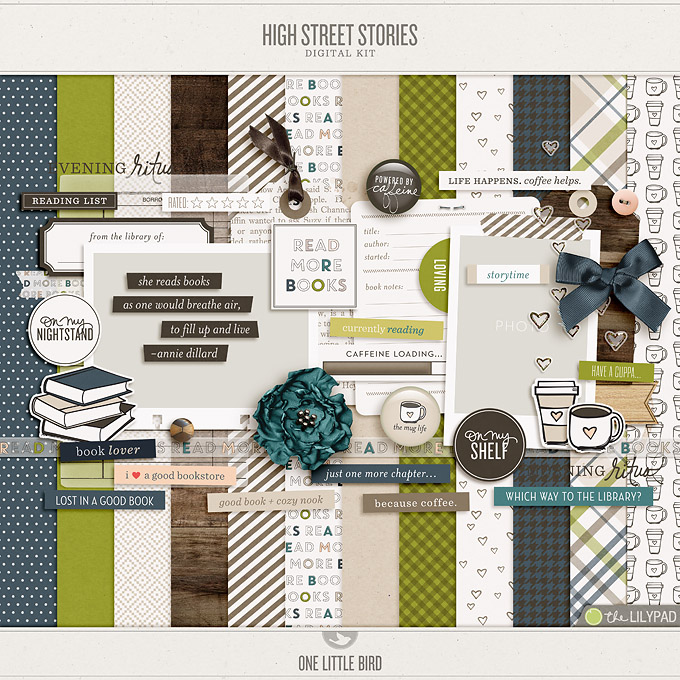 High Street Stories | Digital Scrapbooking Kit | One Little Bird