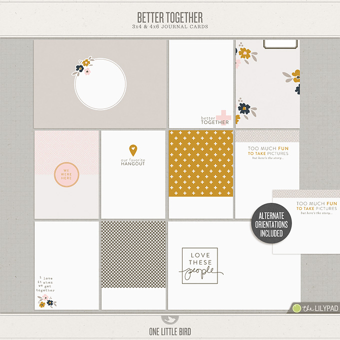 Better Together | Printable Journal Cards | One Little Bird