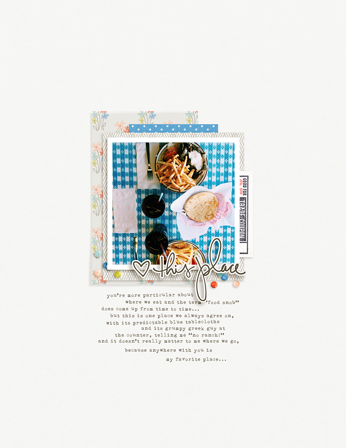 Digital Layout by Peppermint | One Little Bird