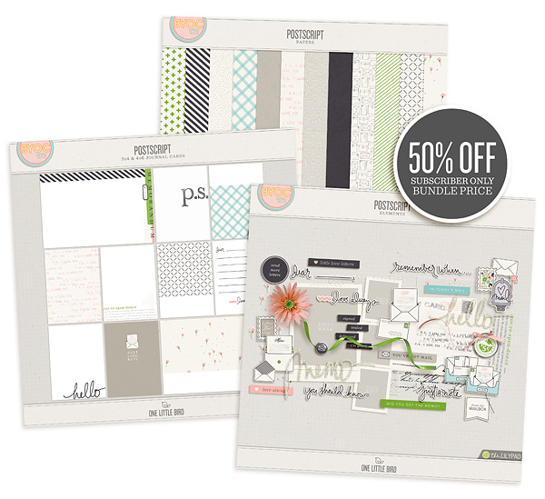 Postscript | Subscriber Bundle | One Little Bird