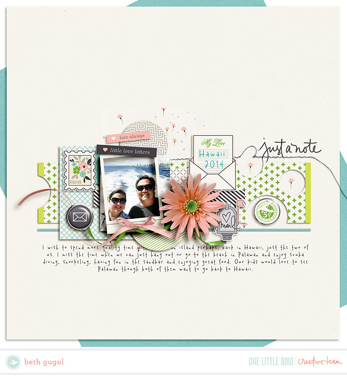 CT Inspiration | Postscript | One Little Bird