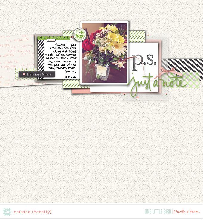 CT Inspiration   Postscript   One Little Bird