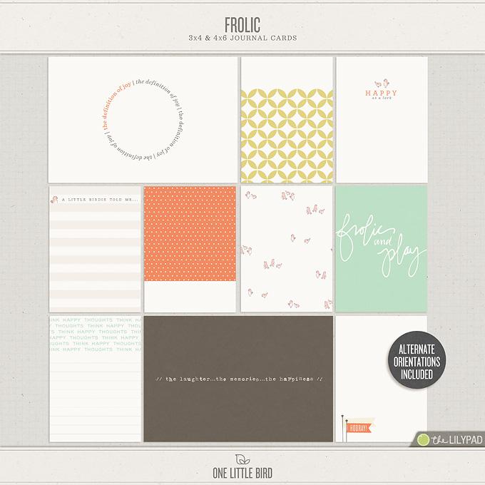 Frolic | Journal Cards | One Little Bird