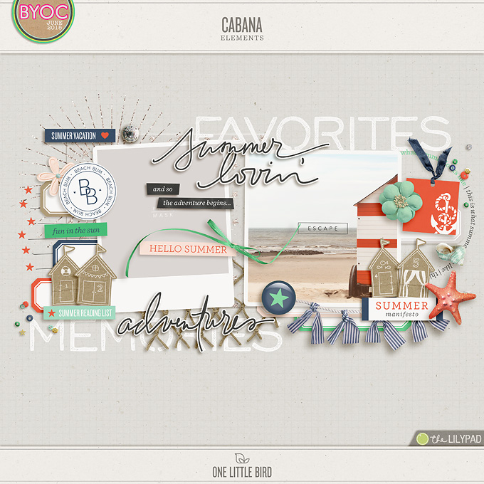 Cabana | Digital Scrapbooking Elements | One Little Bird
