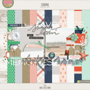 Cabana | Digital Scrapbooking Kit | One Little Bird