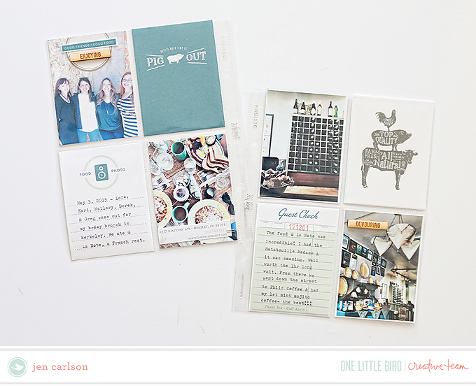 Project Life page by Jen Carlson | One Little Bird