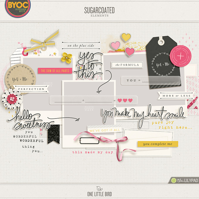 Sugarcoated | Digital Scrapbooking Elements | One Little Bird