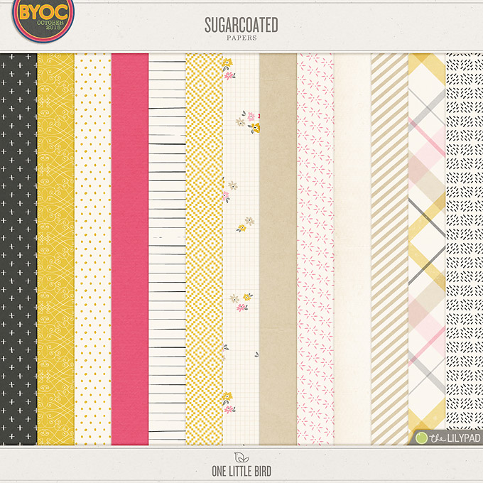 Sugarcoated | Digital Scrapbooking Papers | One Little Bird