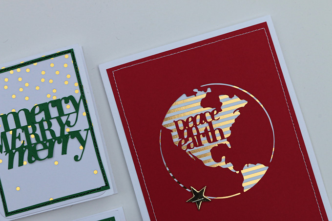 Hybrid Holiday Cards by Jen Carlson | One Little Bird