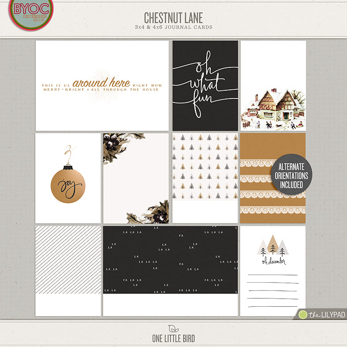 Chestnut Lane | Printable Journaling Cards | One Little Bird