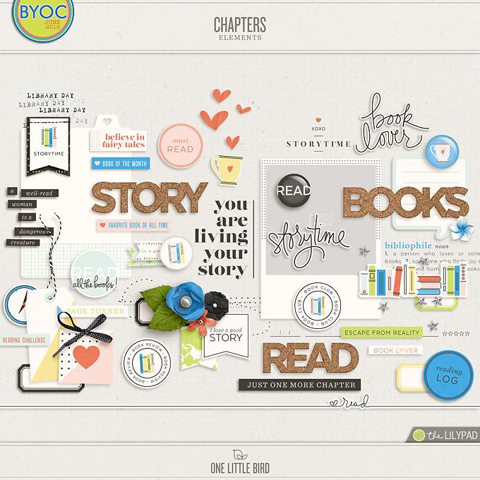 Chapters | Digital Scrapbooking Elements | One Little Bird