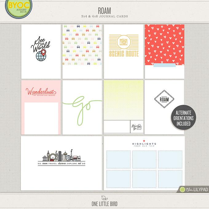 Roam | Printable Journaling Cards | One Little Bird
