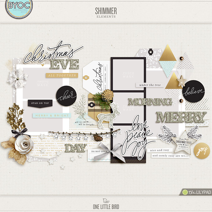 Shimmer Elements | One Little Bird
