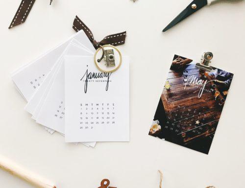 New Release | 2017 Calendar Cards