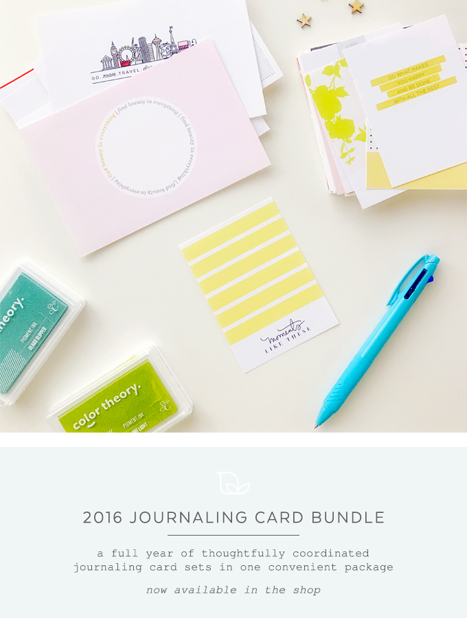 2016 Journaling Card Bundle | One Little Bird