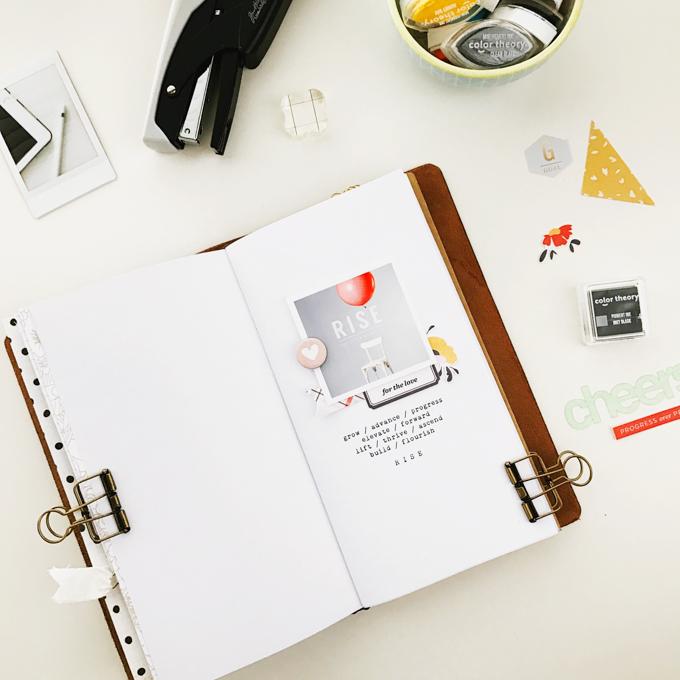 2017 Traveler's Notebook | Peppermint Granberg | One Little Bird