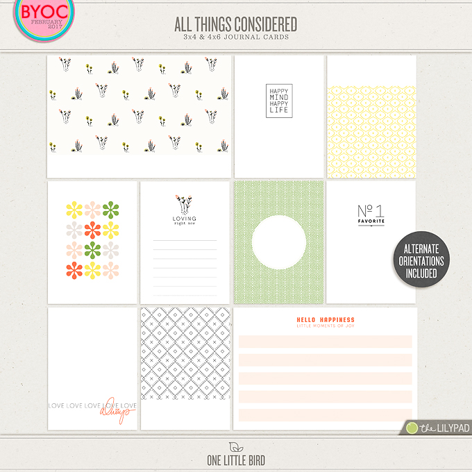 All Things Considered Journaling Cards | One Little Bird