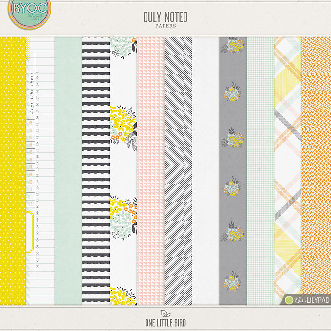 Duly Noted Papers | One Little Bird